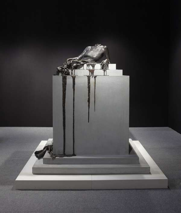 Melting Maiden Sculptures