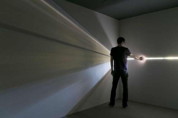 Interactive Geometric Light Installations