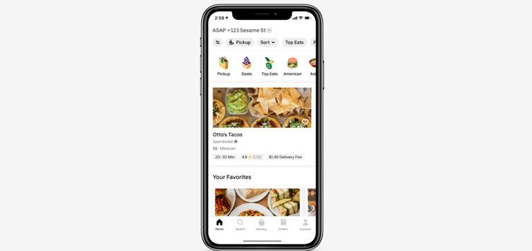 In-App Food Delivery Advertising