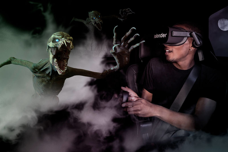Haunted In-Car VR Entertainment