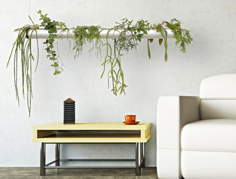 Pipe-Like Hanging Planters