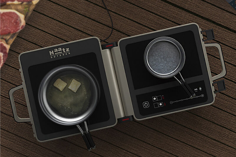Folding Dual-Cooktop Camper Stoves