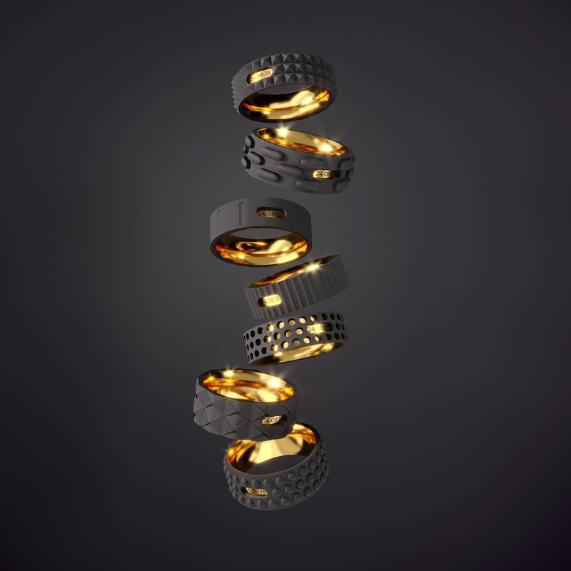 Textural Tool-Inspired Rings