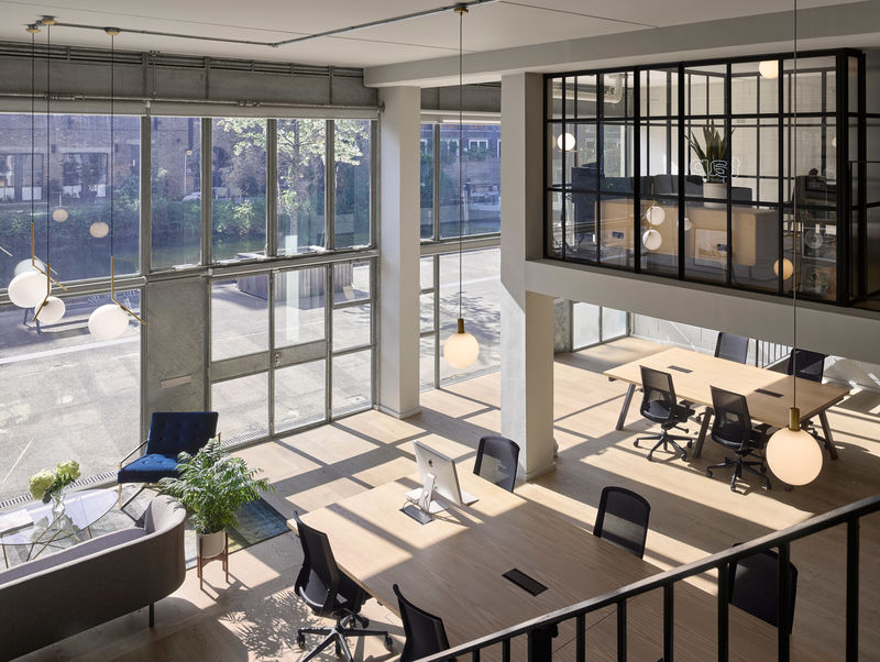 Chic Industrial-Style Office Spaces