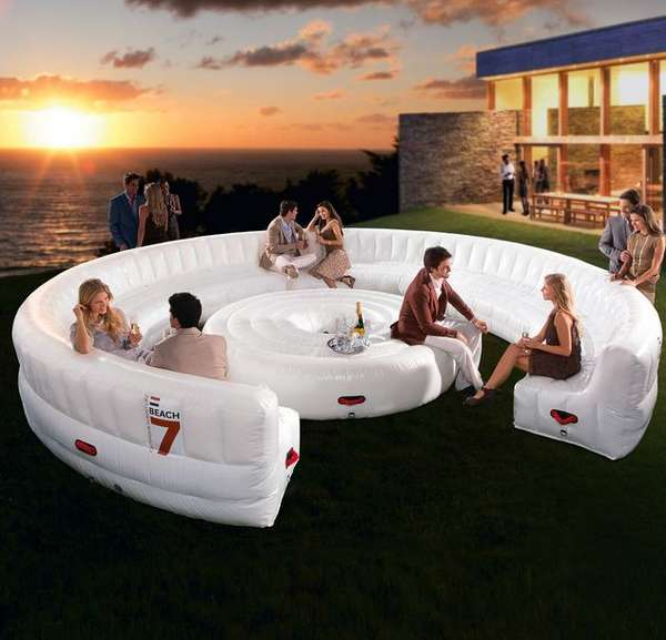 Bouncy castle lounge furniture inflatable lounge for Divano gigante