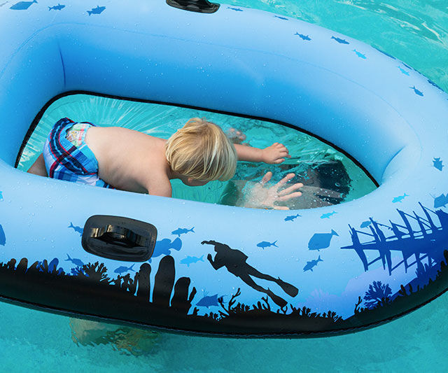 Inflatable Clear-Bottom Rafts