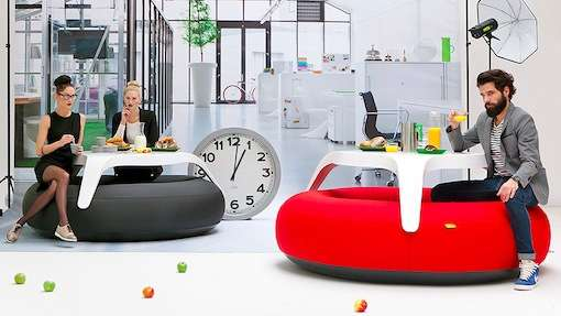 Elliptical Blow-Up Furniture