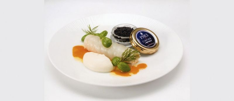 In-Flight Caviar Snacks