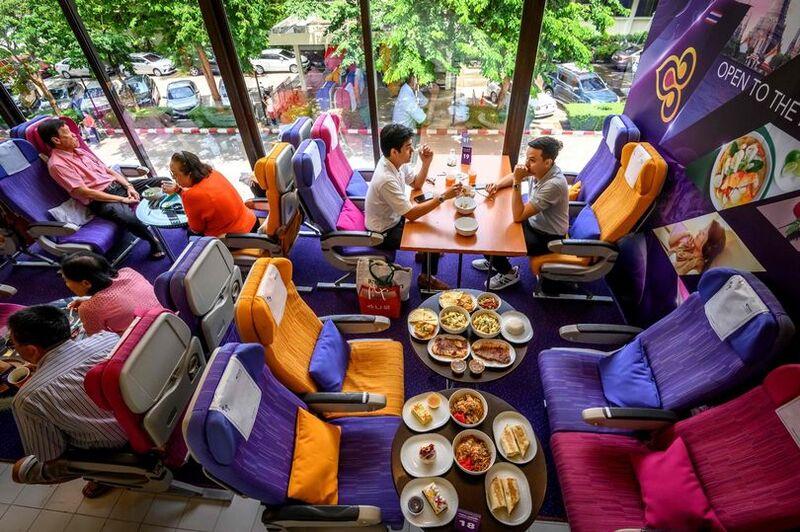 In-Flight Menu Restaurant Pop-Ups