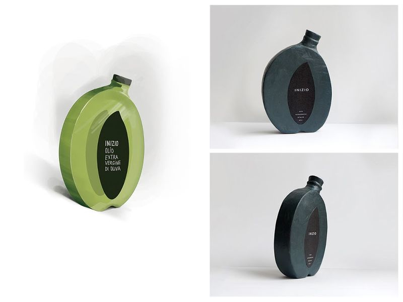 Olive-Shaped Bottles