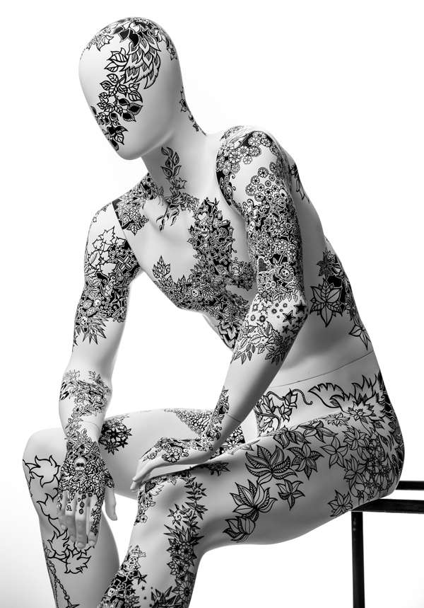 Hand-Inked Mannequins