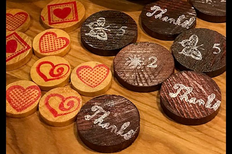Wooden Coin-Based Loyalty Initiatives