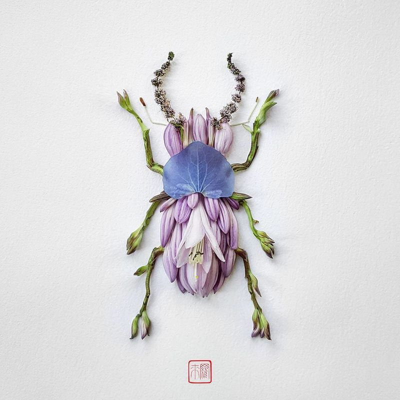 Delicate Insect Flower Sculptures