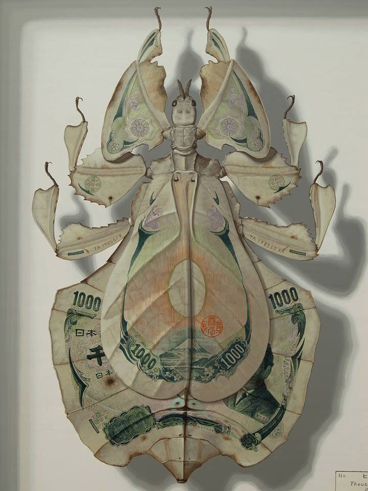 Paper-Made Insect Sculptures