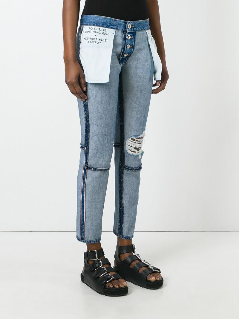 Inside-Out Denim Trousers