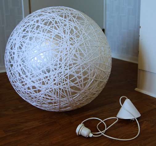 diy globe chandeliers inspireramera pilates ball lamp tutorial. Black Bedroom Furniture Sets. Home Design Ideas