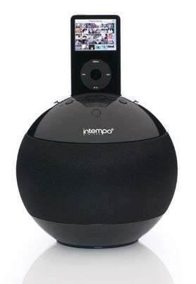Spherical iPod Speaker-Dock