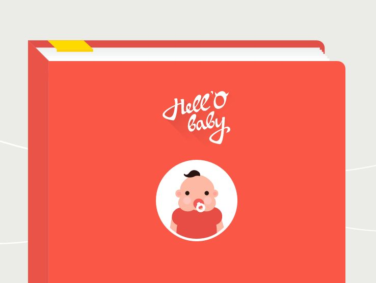 Snapchat-Inspired Baby Albums