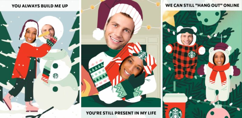 Endearingly Silly Interactive Holiday Cards
