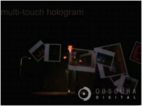 Interactive Holograms: VisionAire Multitouch Holograms