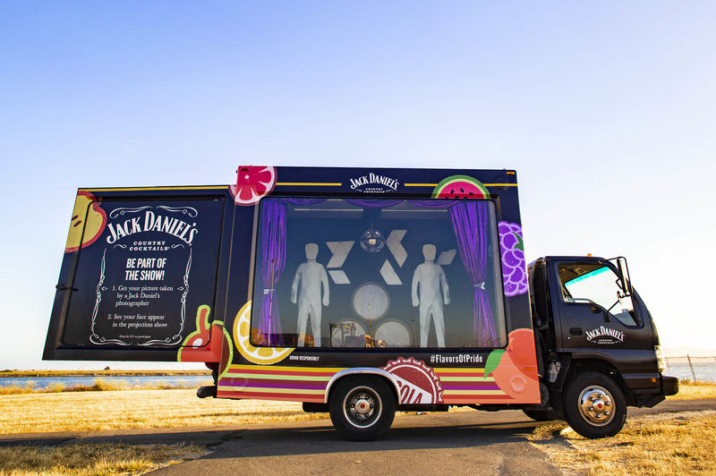 Interactive Projection Mapping Trucks