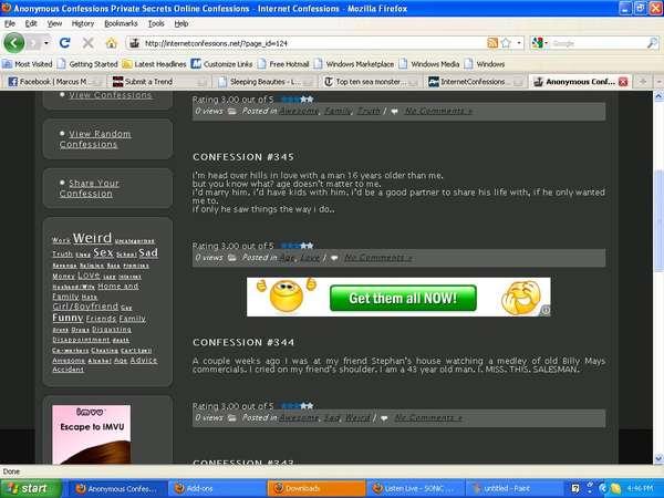 Online Confessionals