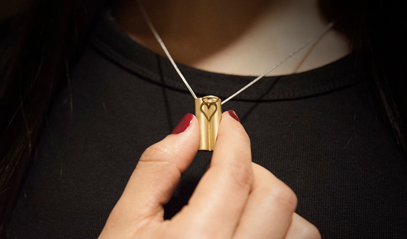 Heart-Shaped Shadow Jewelry