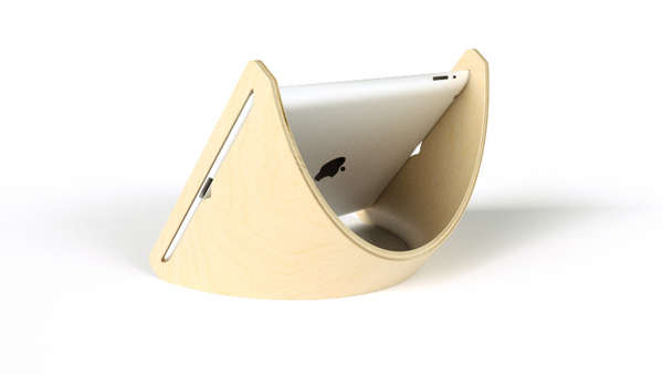 Curvaceous iPad Cradle