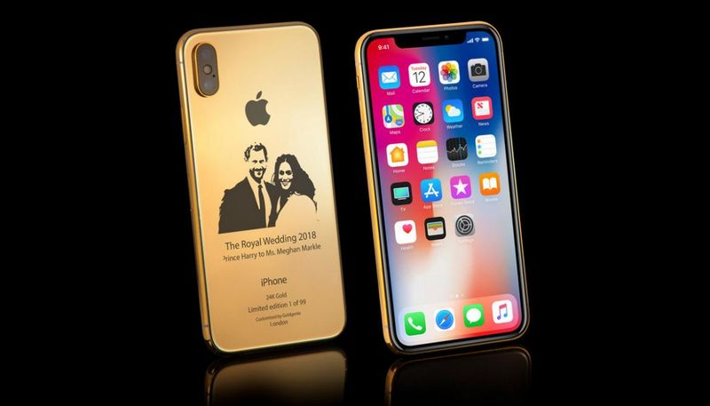 Gilded Royal Wedding Smartphones