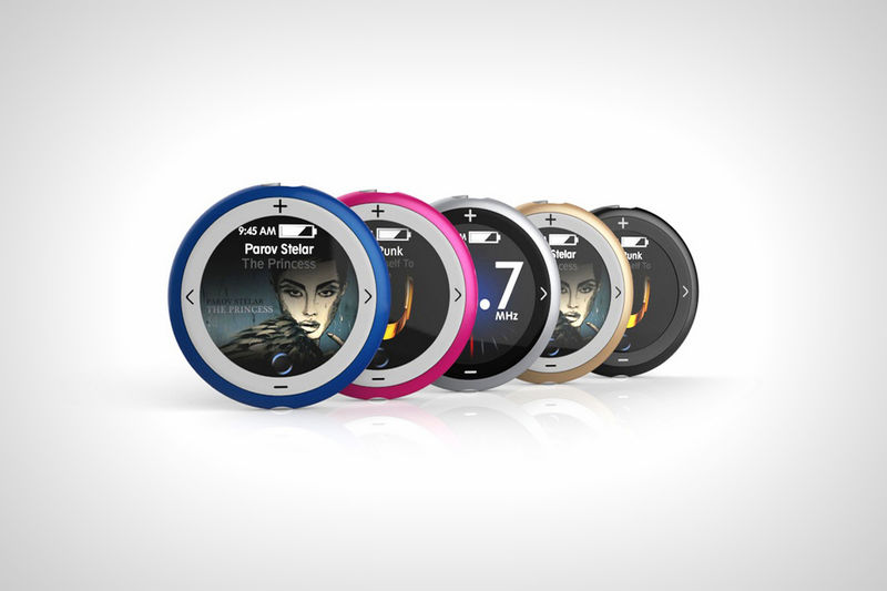 Circular Ergonomic MP3 Players