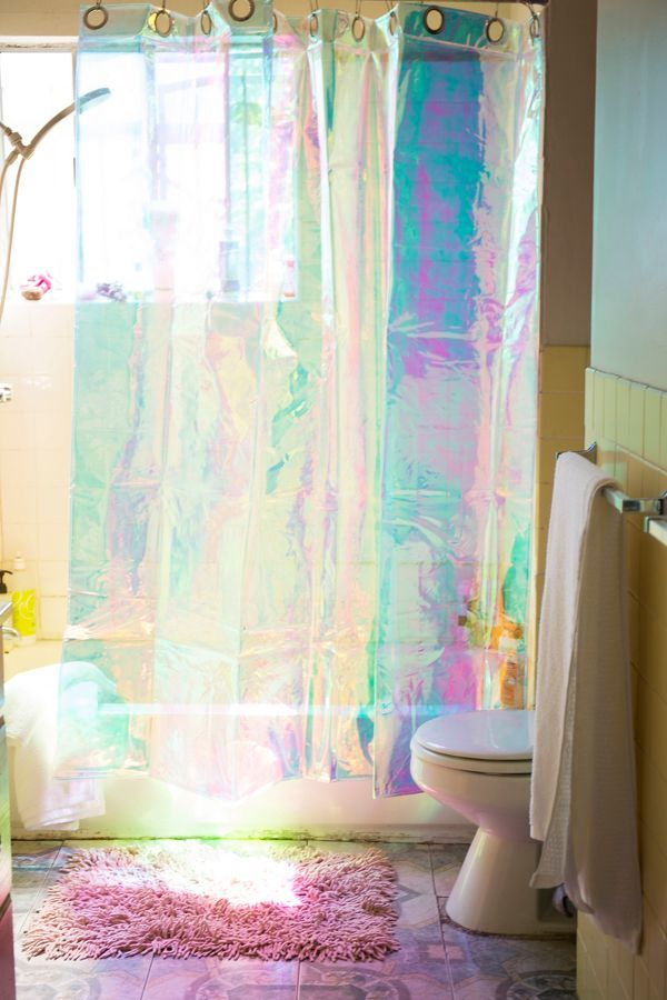 Holographic Bathroom Decor