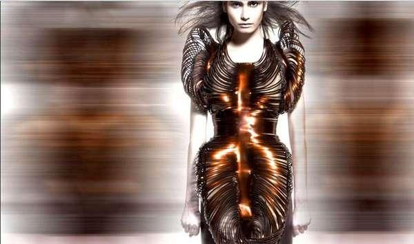 Futuristic Metallic Fashion