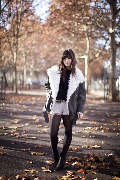 Faux Fur Biker Fashion