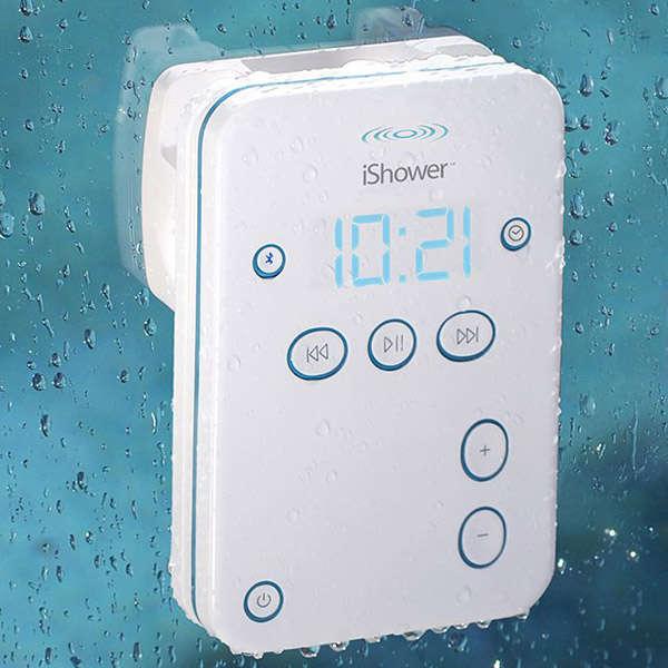 Sleek Shower-Proof Speakers