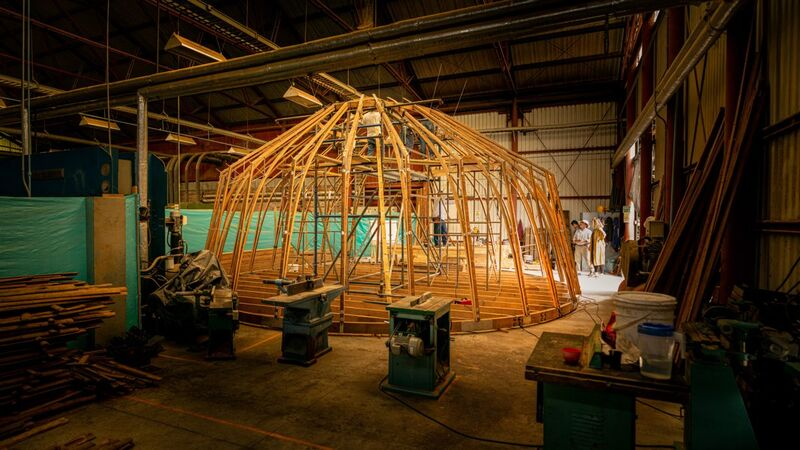 Bamboo-Framed Islamic Gathering Spaces