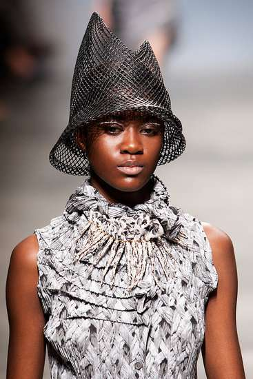 Cone-Shaped Mesh Hats   issey miyake spring 2011 a80d3d2ab2d