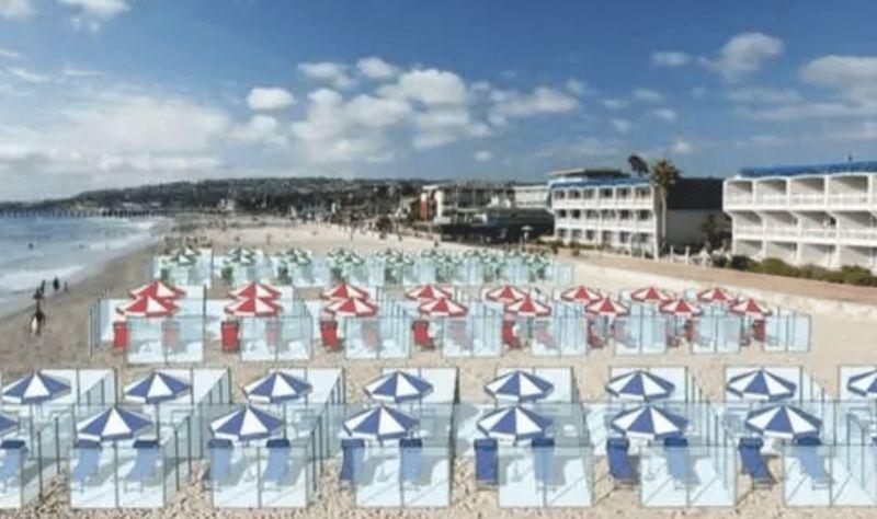 Glass Tanning Beach Booths