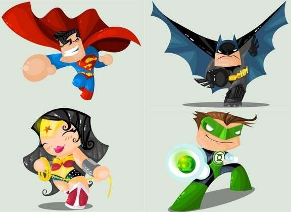 Adorable Action-Hero Drawings