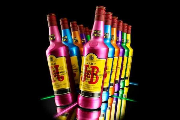 Vibrant Whiskey Bottles