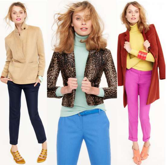 Color-Blocked Casualwear Catalogs