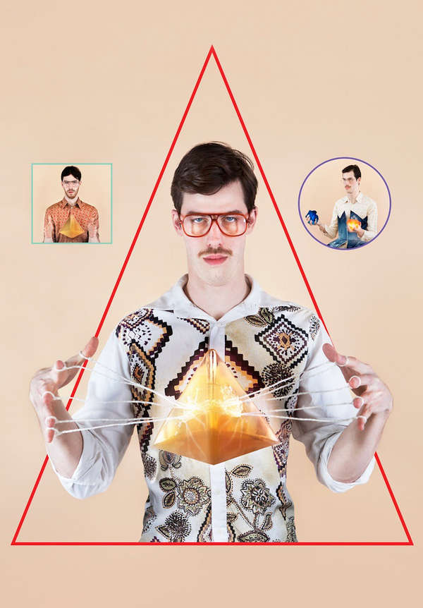 Illusionary Hipster Portraits