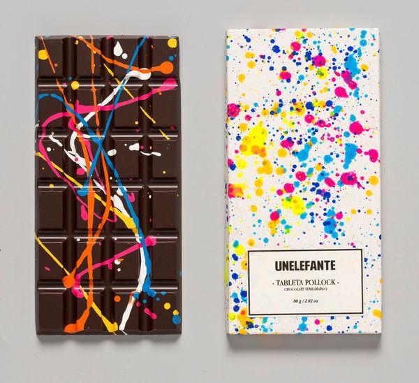 Paint-Splattered Chocolates