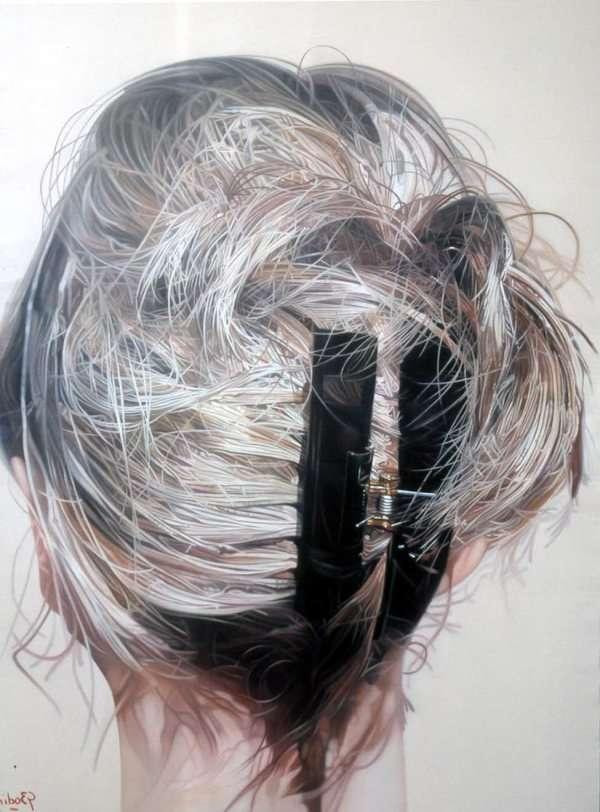 Hyperreal Hair Portraits