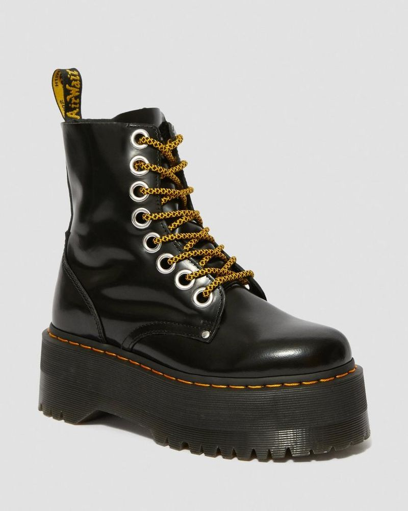 Chunky Glossy Platform Boots
