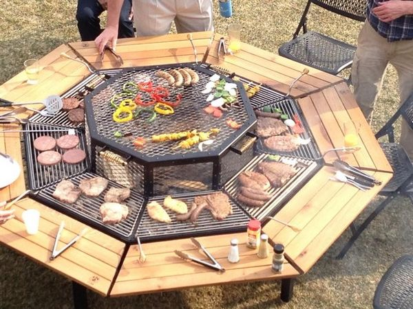 Built-In BBQ Tables