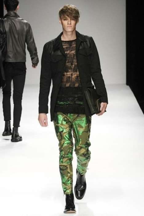 Shimmery Camouflage Menswear