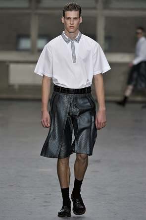 Frilled Short Menswear