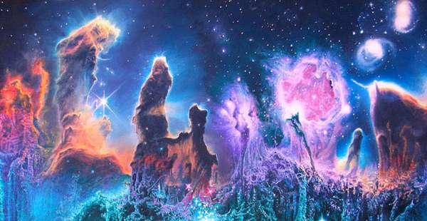 Surreal Cosmic Paintings : James McCarthy | 600 x 310 jpeg 33kB