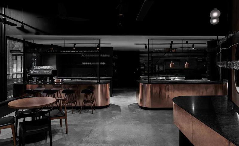 Rustic Copper Filled Restaurants Jamu Restaurant