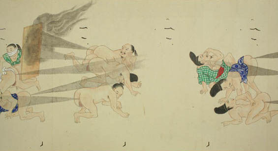 Feudal Juvenile Japanese Drawings